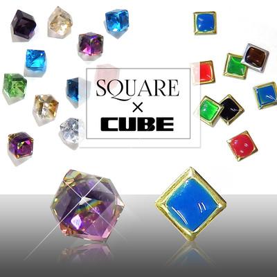 【美しいスクエアの魅力】メタル・オーロラ スクエア&キューブ 全19種 ネイル・レジン・ハンドメイド