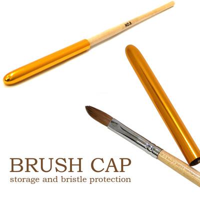 【ブラシの必需品】ブラシキャップ ゴールド スプリング仕様で様々なブラシサイズに対応