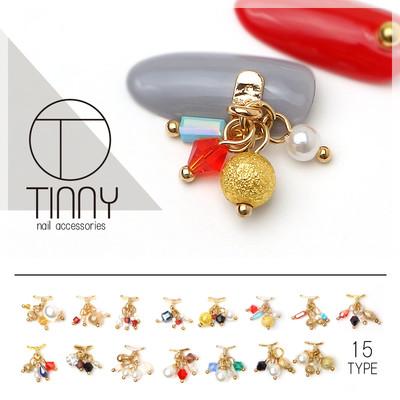 新作!お洒落なネイルオンジュエリー【TINNY-ティニー-】ペディキュアも15種