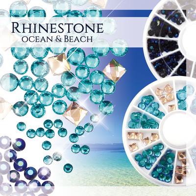 ネイル・ハンドメイド 【美しい海と静かな深海の輝きを】【ocean】【beach】 パーツ ABラインストーン